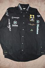 PBR Bull Riding Sponsor Shirt Pro Rodeo MIKE LEE BLACK PRCA Wrangler NFR RARE!