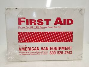 25-25 Person Industrial First Aid Kits, Weatherproof Steel, Wall Mount