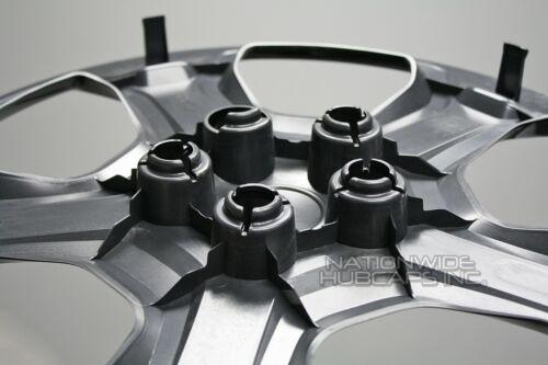 "4 Black 2017-19 Ford Escape S 17/"" Hub Caps Full Wheel Covers Skins R17 Steel Rim"