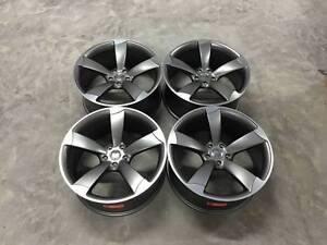 19-034-TTRS-Rotor-DEEP-CONCAVE-Style-Alloy-Wheels-Satin-Gun-Metal-Audi-A4-A6-A8