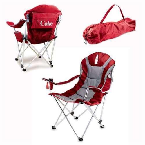 Red Reclining Camp Chair Silkscreen Tailgate Reclining Camp Chair Coca-Cola