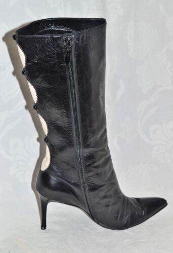 ALEXANDRA NEEL Size 5 / 38 Genuine Designer RARE Corset Button Leather Boots VGC
