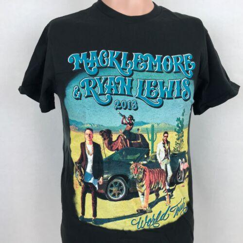 NEW Macklemore Ryan Lewis 2013 Tour T-Shirt S Black Hip Hop Rap Delta