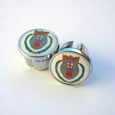 Caps Vintage Style Chrome Racing Bar Plugs Repro Hetchins Tottenham