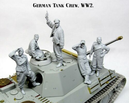 1//35 Resin German Tank Crew WWII 5 Tankers Unpainted Unassembled BL644