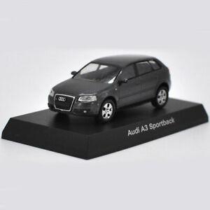 AUDI-A3-Sportback-1-64-escala-Diecast-Regalo-Juguete-Vehiculo-Coche-Modelo-Coleccion-Negro