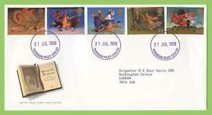 Graham-Brown-1998-reinos-magicos-el-Palacio-de-Buckingham-CD-Royal-Mail-primer-dia-cubierta