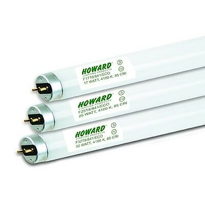 Howard Lighting 4 Ft 32W T8 High Lumen Long Life 4100 Lumens 84 CRI 4100K Light