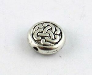 60PCS-Tibetan-silver-knot-flat-spacer-beads-for-jewelry-making-T8934