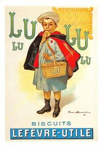 CP Postcard Poster Advertising Lu Small School Edit Clouet 10778