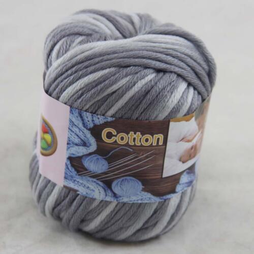 Sale 4Balls x50g Super Soft Cotton Chunky 16Ply DIY Hand Wrap Shawl Knit Yarn 44