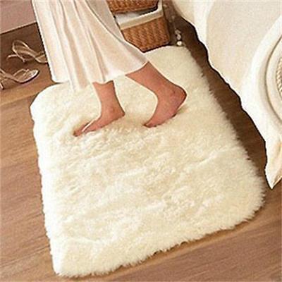 40*60cm Anti-skid Carpet Living Dining Bedroom Bathroom Shaggy Wool Rug 2015
