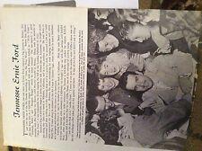 F8-1  Ephemera 1954 article pop star tennessee ernie ford