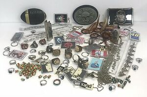 Junk-Drawer-Jewelry-Belt-Buckles-Beads-Chain-Rings-Lighter-Cases-Keychains