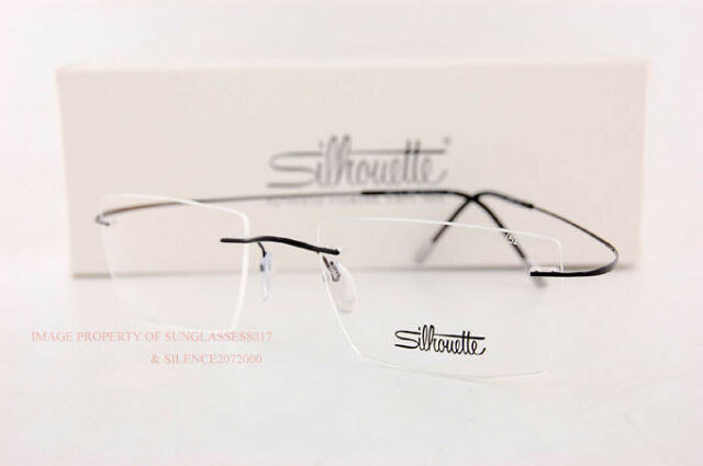 7457a01bf14a New Silhouette Eyeglass Frames TMA Must Collection 5515 CL 9040 Black Titan  52