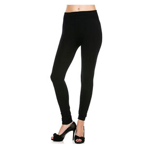 91b48ecf93f4d Details about Womens Warm Winter Skinn Black Slim Leggings Stretch Pants  Thick Footless Tight