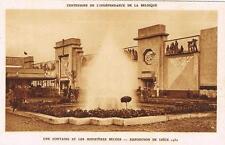 CPA n&b Liège, expo 1930 - une fontine et les ministères belges