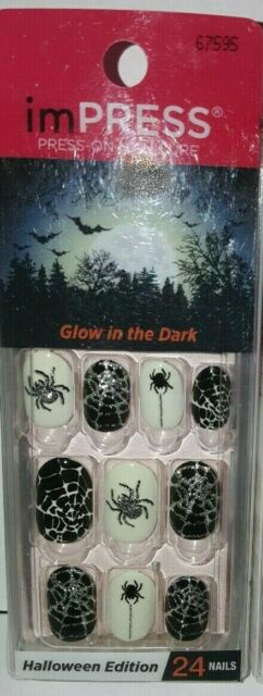 Kiss Impress Halloween Press-On Nails Glow in the Dark ...