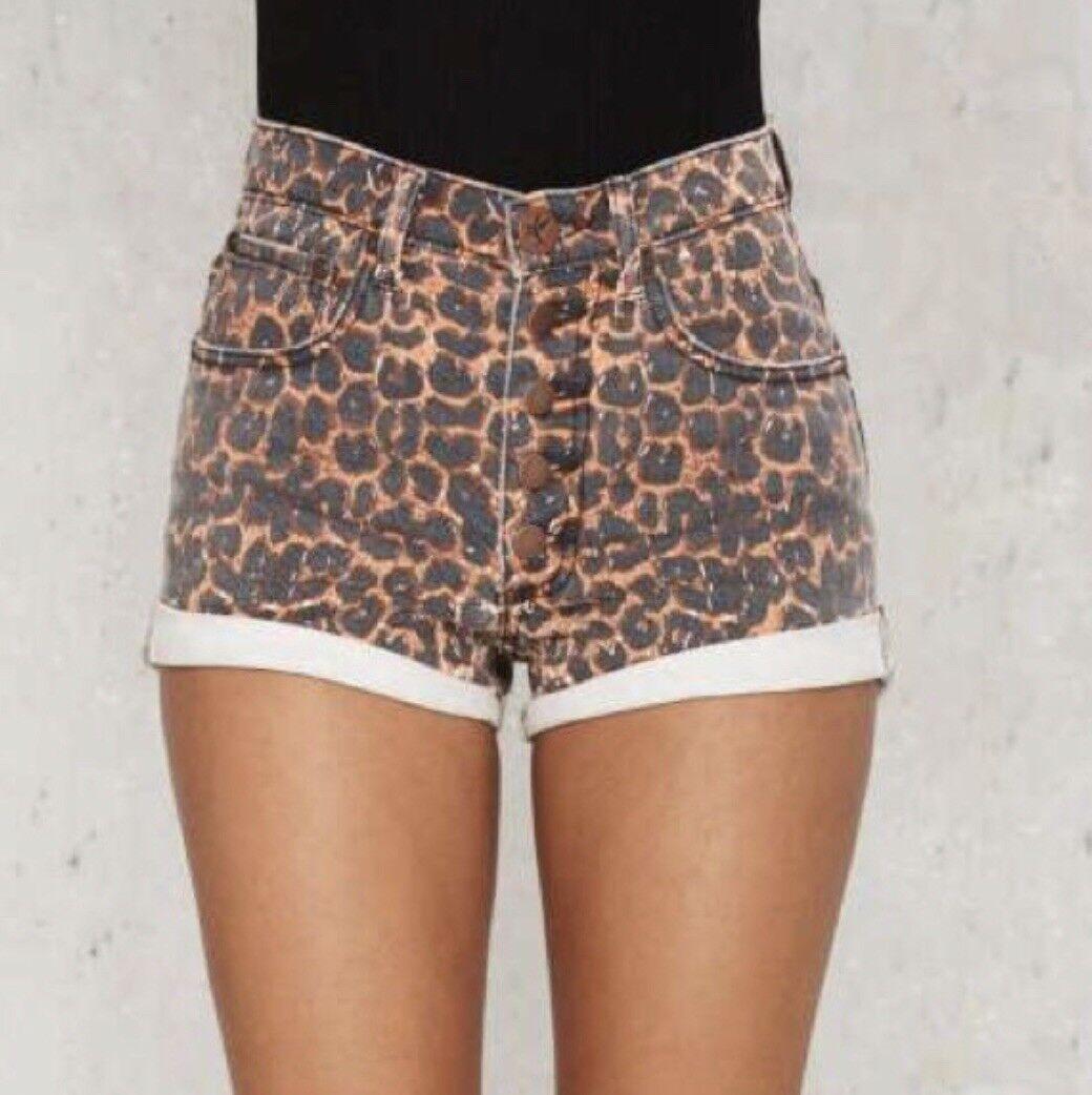 One Teaspoon Leopard Hartlets Shorts