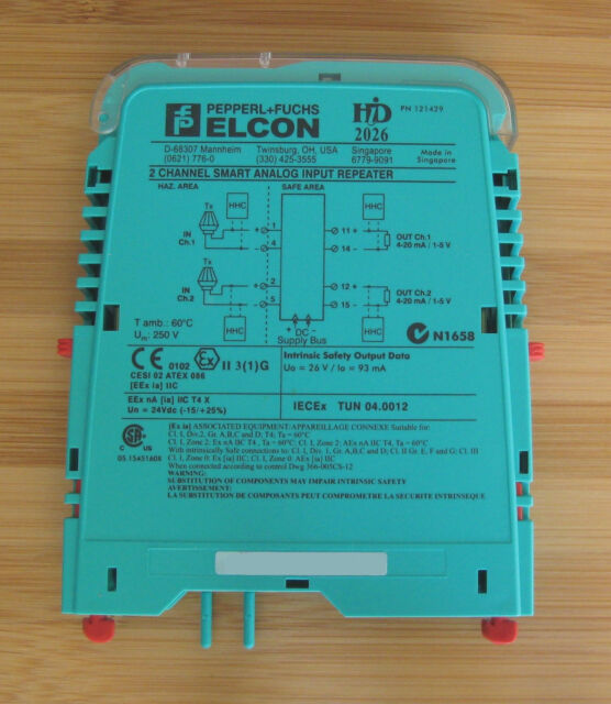 Pepperl Fuchs Elcon HID 2026 Hid2026 121429 2 Ch. Smart Analog Input ...
