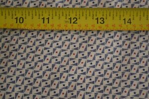 By-1-2-Yd-Cream-Red-amp-Navy-Quilting-Andover-Fairfax-County-Morton-3987-L-M8626