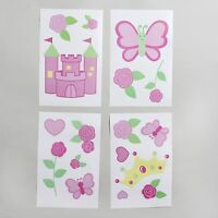 Little Bedding By Nojo Baby Girl Princess Rose Wall Decals -pink, Assorted Style