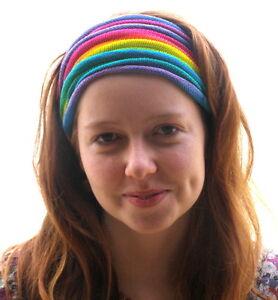 Rainbow-Tie-Dyed-Headwrap-Hair-amp-Dreadband-Head-Wrap-Cotton-Dreadwrap