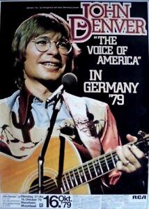 DENVER, JOHN - 1979 - Konzertplakat - Voice of America - Tourposter - Mannheim - Oberhausen, Deutschland - DENVER, JOHN - 1979 - Konzertplakat - Voice of America - Tourposter - Mannheim - Oberhausen, Deutschland