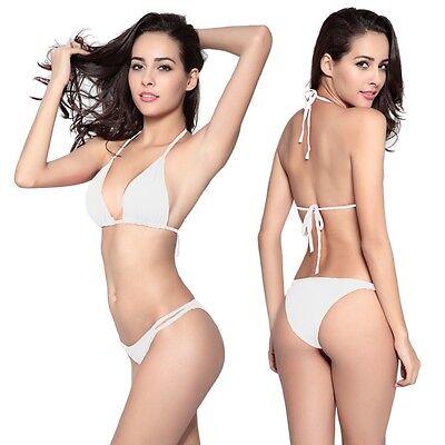 Women Push-up 2 Pieces Bikini Set Swimwear Bra Bandage Swimsuit Bathing Suit