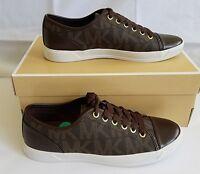 Michael Kors mk City Sneaker Brown Signature Mk Logo Size 8.5 / 39 Medium