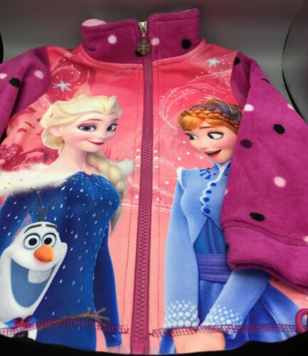 Disney/'s Frozen Die Eiskönigin Elsa /& Anna Fleece Jacke Lila