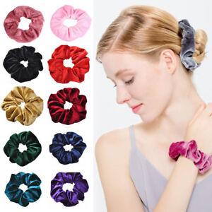 Lovely Velvet Scrunchies Ponytail Holder Hair Accessories Lot Elastic Hair Band