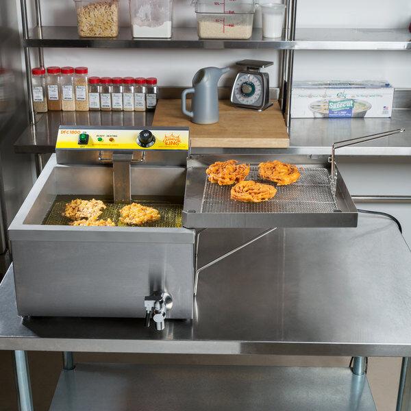 Carnival King DFC 1800 25lb Funnel Cake Donut Fryer - 120V