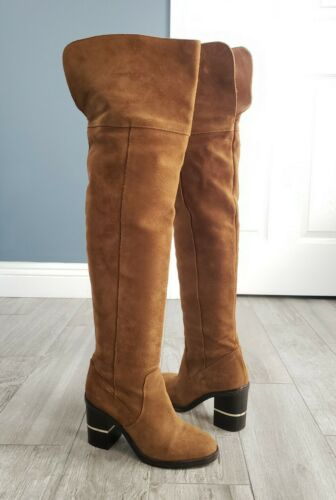 OFFICE LONDON over the knee thigh high camel brown