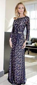 Long-Elegant-Ladies-Wedding-Ball-Lace-Party-Evening-Boho-Prom-Maxi-Dress-Size