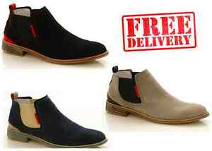 NEW-MENS-CHELSEA-LEATHER-SUEDE-CASUAL-FORMAL-SLIP-ON-ANKLE-BOOTS-SHOES-WARRANTY