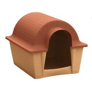 Casette Per Cani In Plastica.Dettagli Su Cuccia Akus Mini Piccola Media Grand Casetta Plastica Cane Interno Esterno Cani
