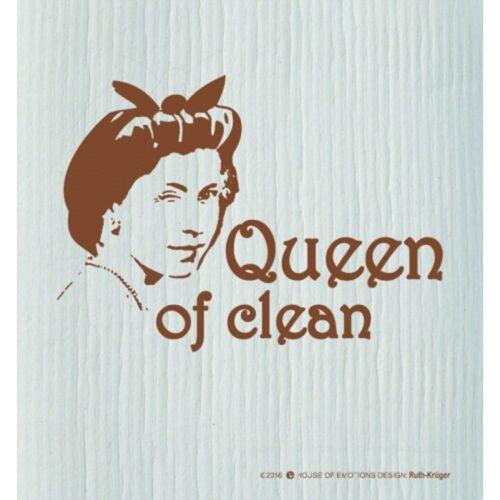 "House of l/'émotivité semble serpillère /""queen of Clean/"" vaisselle Chiffon Chiffon Chiffon"