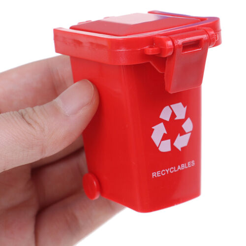Kid 4pcs//set Trash Can Toy Garbage Truck Cans Curbside Vehicle Bin