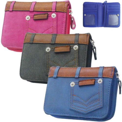 FASHION Da Donna Ragazze Tasca Zip Piccolo Portamonete Portafoglio Donna Borsa porta carte di credito p
