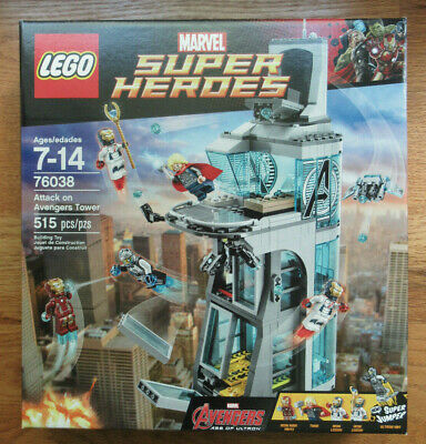 Factory Sealed NEW Lego Marvel Super Heroes 76038 Attack On Avengers Tower