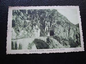 Francia-Tarjeta-Postal-1931-Valle-de-La-Sioule-Gargantas-Tunel-cy58