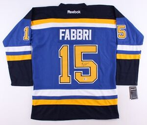 official photos a8a3e 2d575 Details about Robby Fabbri Signed St. Louis Blues Jersey (Beckett) St louis  1st Rnd Pick 2013