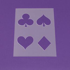 Schablone Din A3 Poker Herz Karo Kreuz Pik - LA43 | eBay