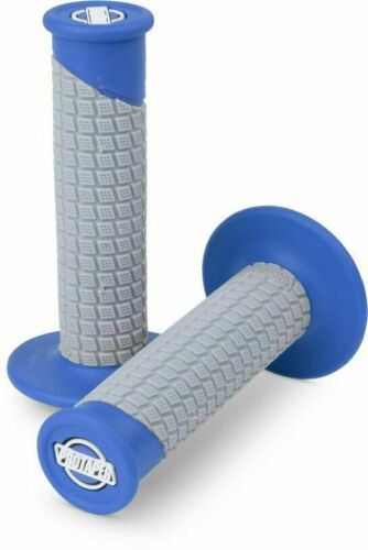 Motocross Dirt Bike MX Pro Taper Pillow Top CLAMP-ON Grip System GREY//BLUE