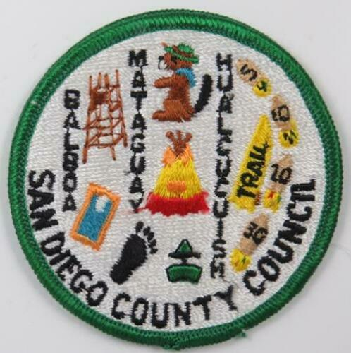 C-1185 San Diego County Council Patch CP GREEN Border