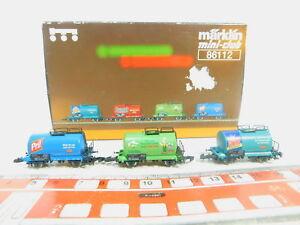 Bp152-0-5-3x-marklin-mini-club-piste-z-DC-wagons-de-Set-86112-DB-Neuw-neuf-dans-sa-boite