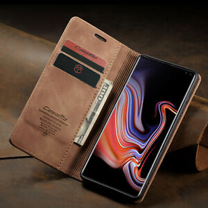 For-Samsung-Galaxy-NOTE10-S10-S9-Premium-Leather-Magnetic-Wallet-Flip-Case-Cover