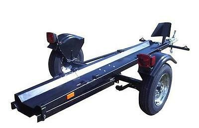 Folding Motorcycle Trailer Portable Collapsible Foldable Used For Single Rail Ebay