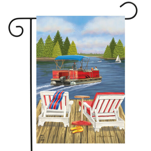 "Dockside Summer Garden Flag Nautical Paddleboat 12.5/"" x 18/"" Briarwood Lane"